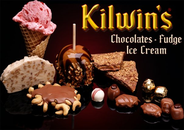 Kilwin's Chocolates, ice cream, caramel apples, Fudge